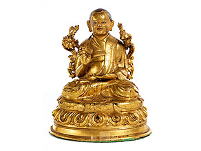 Feuervergoldete Bronze eines Lama