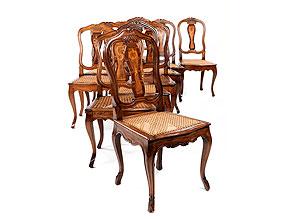 Satz von elf Barockstühlen