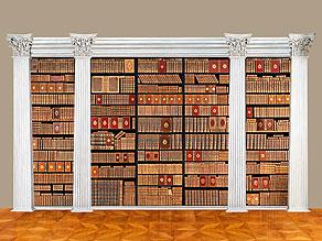 † Eine große Bibliothek mit 1054 Büchern des 18. Jahrhunderts aus der Zeit von König Louis XIV, Louis XV und Louis XVI