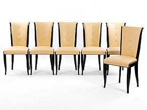 Sechs Art Déco-Stühle