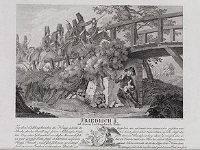 Friedrich II mit seinem Lieblingshund Biche