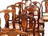 Detail images:  Satz von elf Barockstühlen