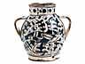 Detail images: Majolika-Doppelhenkel-Vase aus der Werkstatt des Giunta di Tugio, Florenz, um 1480