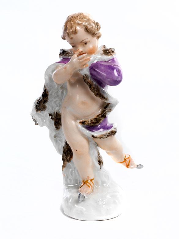 Meissener Porzellanfigurine Allegorie des Winters