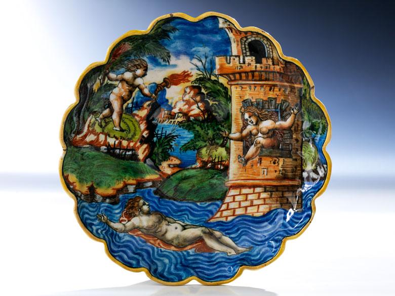 Majolika-Istoriato-Crespina