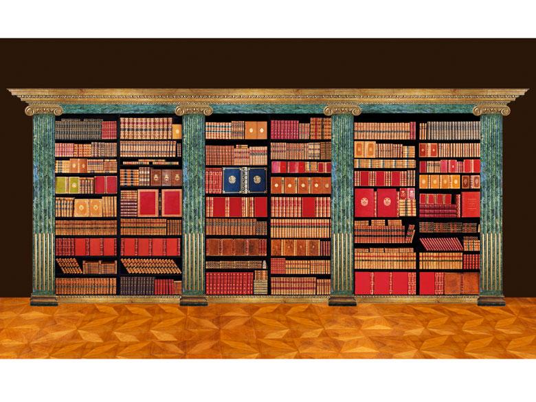 † Eine Bibliothek des 18. und 19. Jahrhunderts