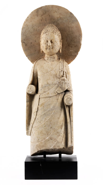 Stehender Buddha mit Nimbus