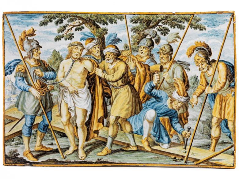 Majolika-Bildplatte aus der Werkstatt der Gentili