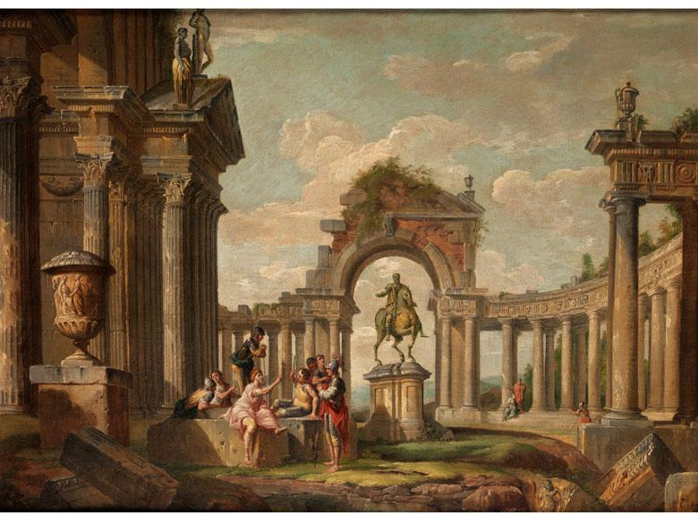 Italienischer Maler des beginnenden 18. Jahrhunderts, Giovanni Paolo Panini, 1692 Piacenza - 1765 Rom, zug./ Werkstatt des