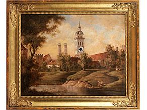 Große Bilderuhr mit Altem Peter und Frauenkirche