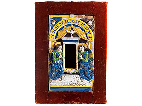 Seltene, museale Majolika-Ädikula von Giovanni Della Robbia, 1469 - um 1529 Florenz