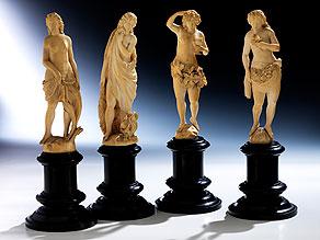 Vier Elfenbeinfiguren: Die vier Jahrezeiten
