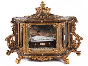 Barocker Tischschrein mit Jesuskindfigur