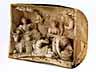 Detail images: Satz von vier ebenso seltenen wie qualitätvollen Elfenbeinreliefs mit antik-mythologischen Szenendarstellungen in der Art von Ignaz Elhafen