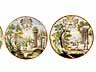 Detail images:  Satz von fünf bemalten Majolika-Tellern