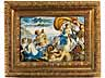 Detail images: Paar Majolika-Bildplatten mit mythologischen Darstellungen