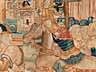 Detail images: Franco-flämischer Wandbildteppich mit historischer Szenerie