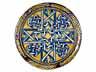 Detail images: Majolika-Platte mit kleinem Fuß aus der Werkstatt von Maestro Giorgio Andreoli