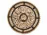 Detail images:  Großer Elfenbein-Reliefteller mit Silbermontierung