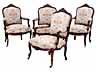 Detail images: Sofa und vier Fauteuils im Rokoko-Stil