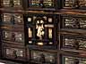 Detail images:  Kleines Kabinettschränkchen mit Elfenbeineinlagen