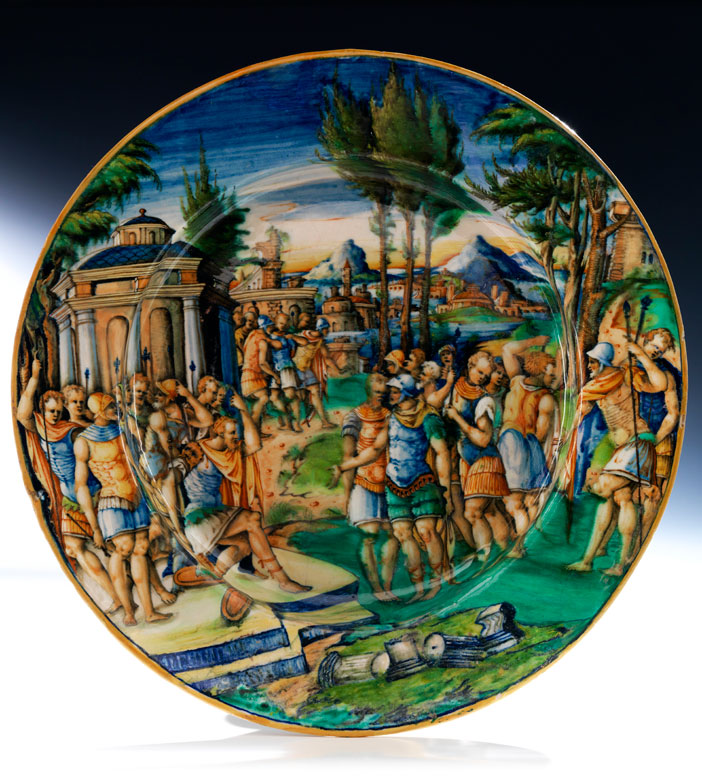 Große Istoriato-Platte des Zenobia-Malers