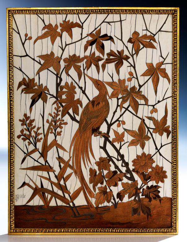 † Seltene Intarsien-Bildplatte von Duvinage & Maison Alphonse Giroux (1813 - 1877)