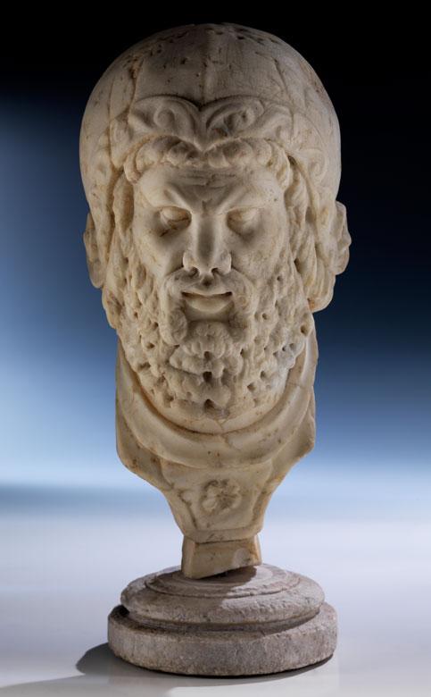 Marmorkopf eines römischen Kriegers