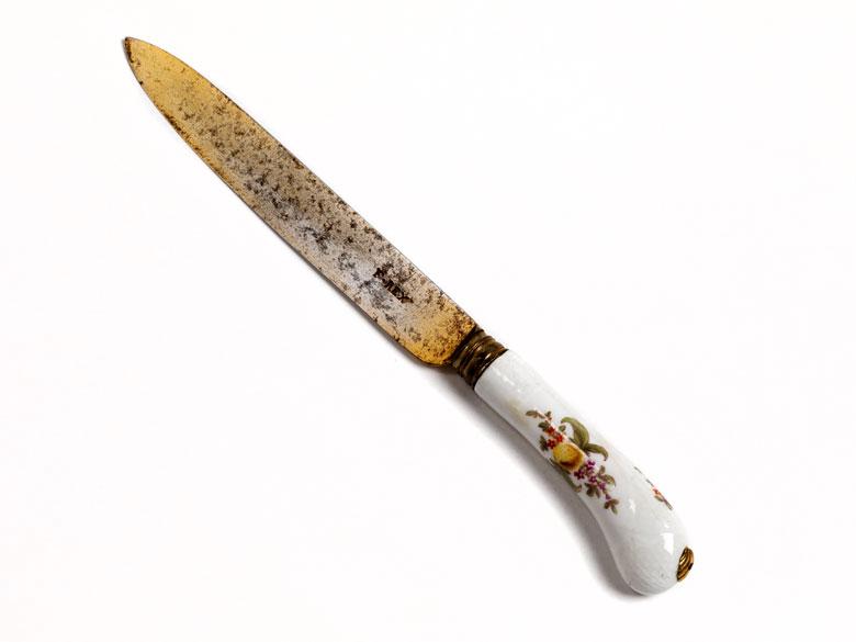 Rokoko-Messer mit Porzellangriff