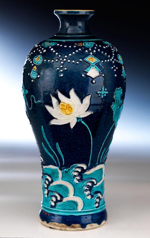 Bedeutende Fahua-Vase