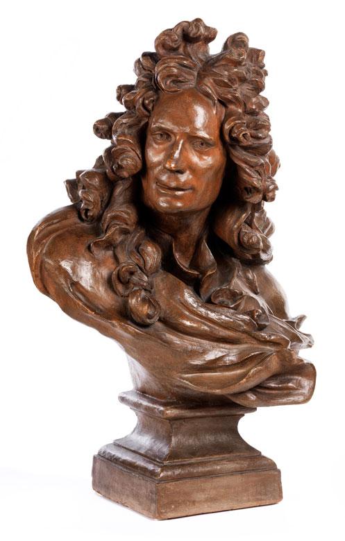Terrakotta-Büste nach Modell von Jean-Jacques Caffieri, 1725 - 1792