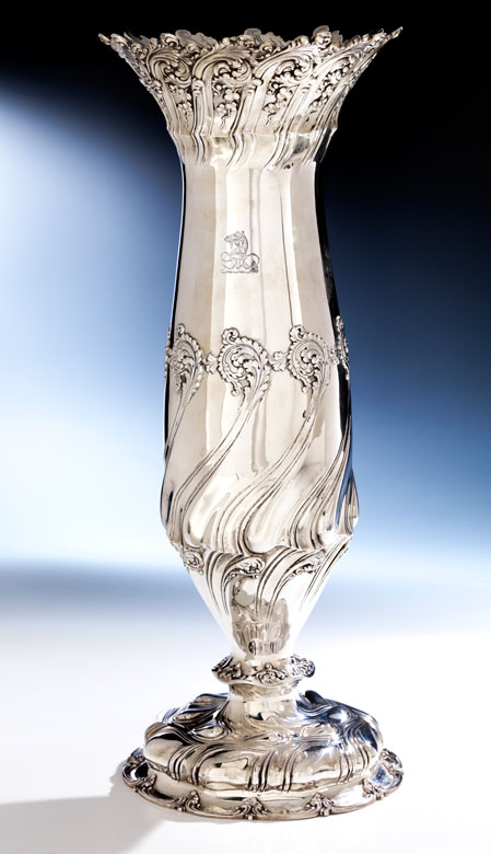 Sehr hohe Tiffany-Vase