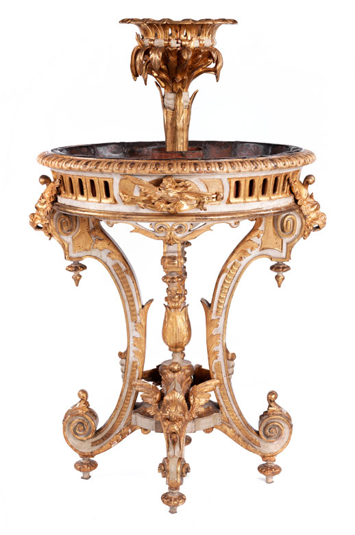 Große, höfische Jardinière im Louis XVI-Stil