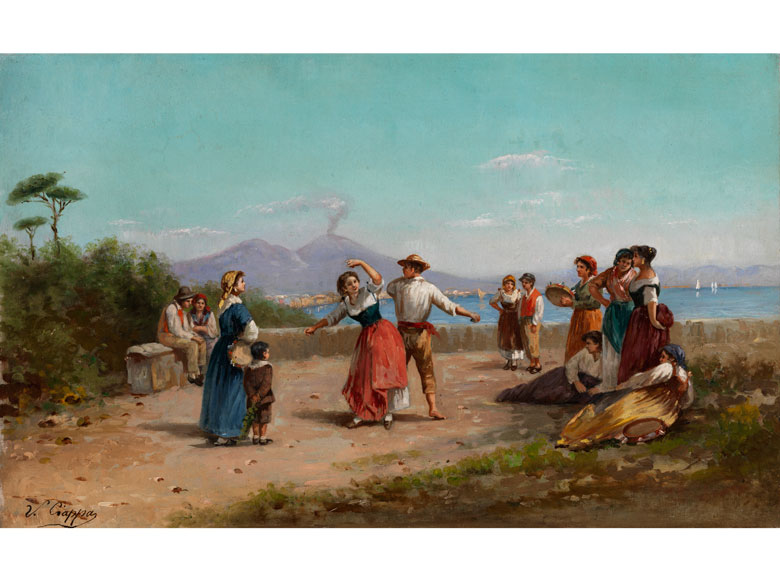 V. Ciappa, italenischer Maler des 19./ 20. Jahrhunderts