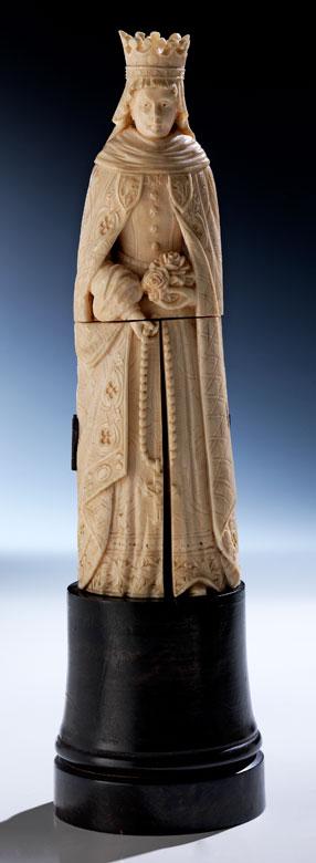 Elfenbeinfigur der Maria Stuart