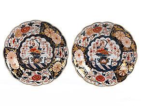 Paar Imari-Teller