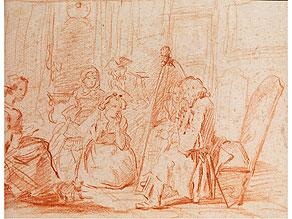 Jacques-André Portail, 1695 Brest – 1759 Versailles, zug.