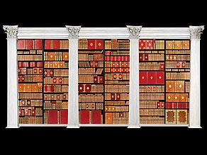 Une grande bibliothèque francaise avec 904 livres du 18ème siècle