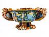 Detail images: Paar große, seltene Majolika-Schalen, wohl aus der Werkstatt der Patanazzi