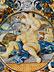 Detail images: Majolika-Teller aus der Werkstatt des Carlantonio Grue (1655 Castelli - 1723)