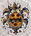 Detail images:  Majolika-Buckelschale mit Wappen