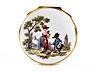 Detail images: Bedeutende Meissener Porzellandose mit Portraitbildnis des sächsischen Kurfürsten Friedrich August II 1697 - 1763, als König von Polen August III seit 1733