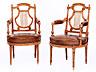 Detail images: Seltener Satz von acht Louis XVI-Sitzmöbeln