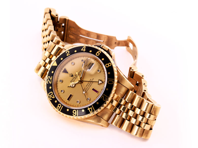 Rolex Herrenarmbanduhr 18 kt. Rotgold mit Rotgoldband