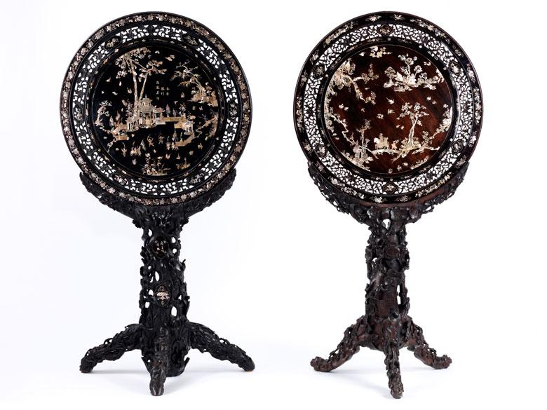 Paar Stellschirme
