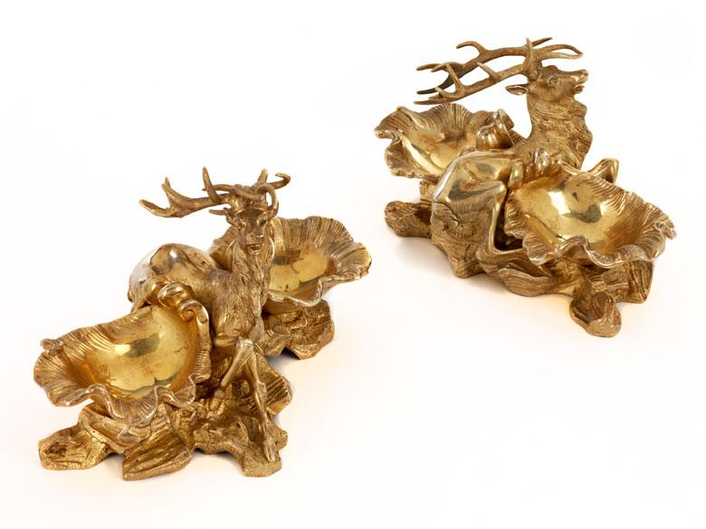 Paar Ormolu-Salièren