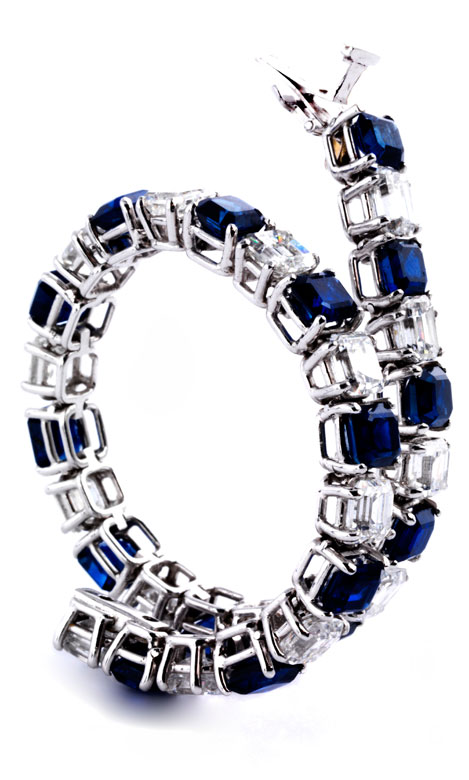 Safir-Diamantarmband