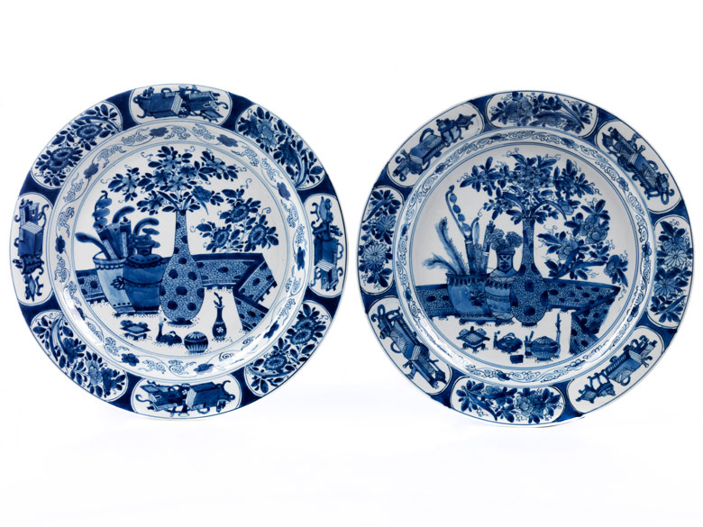 Paar Porzellan-Platten