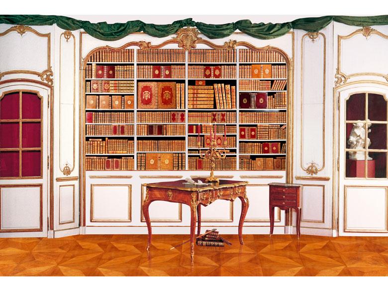 † Eine Bibliothek mit 504 Büchern des 18. Jahrhunderts