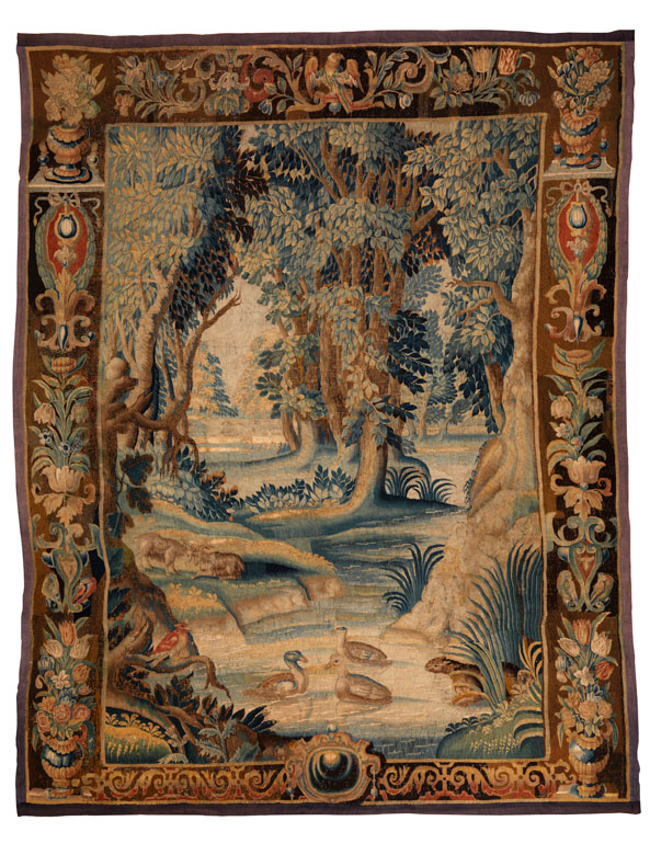Gobelin-Wandteppich mit Landschaftsmotiv